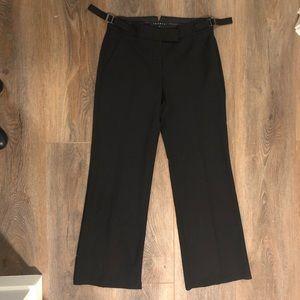 Theory Wool Boot Cut Work Pants Black